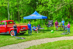Tailgate in HotRod style with an engine grill and Summit Racing pop-up canopy, folding chairs and our Kingpin chair! Summit Racing, Tailgating, Outdoor Gear, Hot Rods, Folding Chairs, Seasons, Canopy, Engine, Gifts
