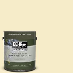 BEHR Premium Plus Ultra 1-gal. #390C-2 Garlic Clove Semi-Gloss Enamel Interior Paint