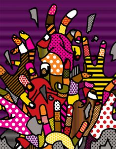 Drag Me to Hell - Craig and karl Craig And Karl, Art Prints For Home, Hand Art, Dope Art, Art Graphique, Pin Up Art, Mood, Abstract Pattern, Textures Patterns