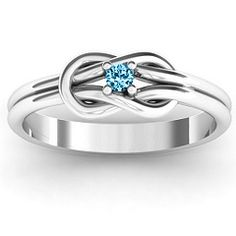 """Love Knot Promise Ring. """"birthstone"""" of the month you began dating. Precious."""