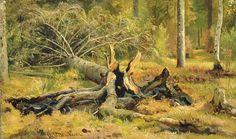 Упавшее дерево. Иван Иванович Шишкин