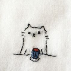 ♒ Enchanting Embroidery ♒ embroidered kitty: