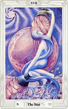 XVII - L'étoile - Tarot Thoth par Aleister Crowley