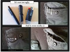 Add a pocket clip to a BIC lighter Urban Survival, Camping Survival, Survival Prepping, Bushcraft Pack, Bic Lighter, Edc Tactical, Survival Backpack, Arc Notebook, Learn Calligraphy