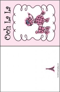 Pink Poodle Card Invitations