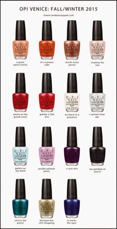 The Beauty News: OPI Venice Collection Fall Winter 2015