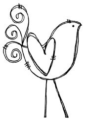 Heart Birdie Illustration