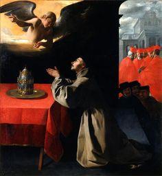 The Prayer of Saint Bonaventure about the election of the new Pope / Gebet des heiligen Bonaventura um die Wahl des neuen Papstes // 1628-1629 // Francisco de Zurbarán // Gemäldegalerie Alte Meister, Dresden