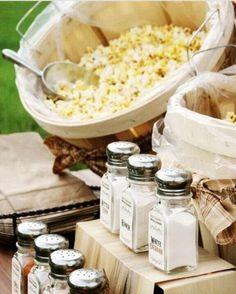 Popcorn bar   ummmm...yes!!! -MJW