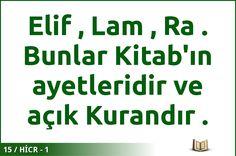 #ALLAH #KURAN #HİCR  15 / HİCR - 1