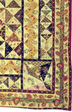 Detail patchwork coverlet made in Amsterdam anno 1796, Vlisco Museum Helmond NL