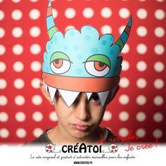 Mon monstre casquette - CRÉATOI a créé rien que pour toi un déguisement FACILE et EFFRAYANT pour aller fêter HALLOWEEN. Il te faut juste une casquette et un monstre CRÉATOI pour te déguiser.  Tu vas faire PEUR !!!