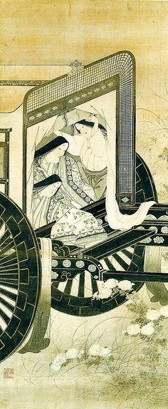 岩佐又兵衛「官女観菊図」 iwasa matabei (1578-1650), Japan