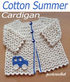 Free baby crochet pattern cotton summer cardigan usa – For Babies, shorts, shoes, pants, fashion dress and much Crochet Baby Sweaters, Crochet Baby Cardigan, Crochet Baby Clothes, Baby Knitting, Free Knitting, Crochet Bebe, Baby Girl Crochet, Crochet For Kids, Free Crochet