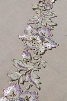 Purple DressTunic With Embroidered Flowers By Handicraft No Size See Measurements