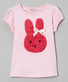 Look what I found on #zulily! Pink & Red Rosette Bunny Tee - Infant, Toddler & Girls by Wenchoice #zulilyfinds