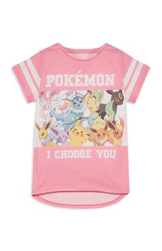 Older Girl Pokemon Slogan Top