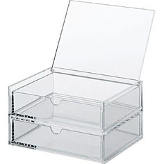 [Acrylic Storage]2 Drawers S with Lid W6.9