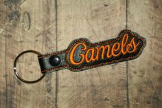 Camels Gaylord Key Chain Snap Tab Black by MrsMuffetsTuffets
