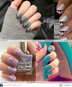 NAIL art...like the bow ones the best...cute