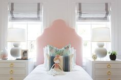 A sweet girls room via Studio McGee | Pondicherry Headboard via Serena & Lily
