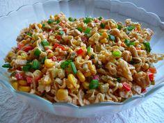 Gotuj z Cukiereczkiem: Sałatka z zupek chińskich Fried Rice, Macaroni And Cheese, Fries, Side Dishes, Chinese, Snacks, Baking, Ethnic Recipes, Food