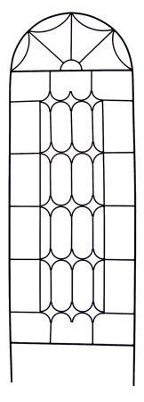 Austram  72-Inch Leather Black Hampton Cottage Trellis