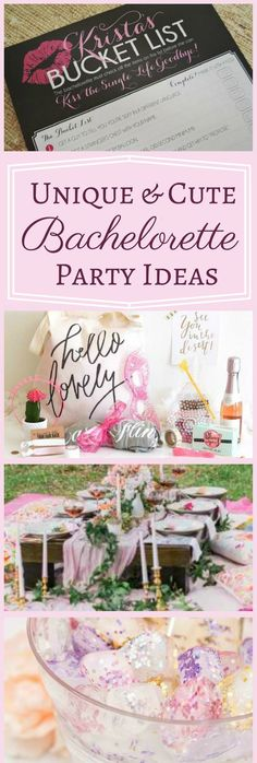 Unique and Cute Bridal Party Ideas | New Bachelorette Party Ideas the Ladies Will Love