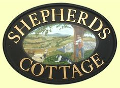 Shepherd name plaque