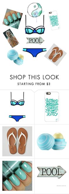 """""""Day at the pool"""" by horseygirl7953 on Polyvore featuring Casetify, American Eagle Outfitters, Eos, women's clothing, women, female, woman, misses and juniors"""