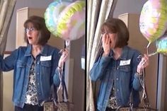 Grandma Thinks Newborn's Gender Is The Surprise Only To Walk In And See A Secret Twin - Lego Hacks Photos ! Twin Gender Reveal, Childrens Wardrobes, Christian College, Blue Balloons, Looking Gorgeous, Beautiful, How To Have Twins, Pinterest Photos, Baby Gender