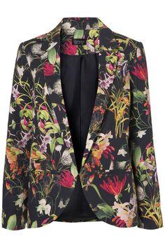 Topshop Co-ord Tropical Floral Blazer