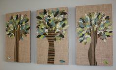 Поделки из ткани деревья