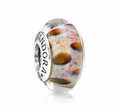 Pandora Leopard Print Brown Murano Glass Charm 790946