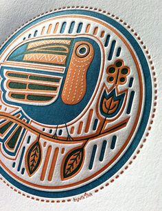 Toucan  letterpress print by byvikINK on Etsy, $32.00