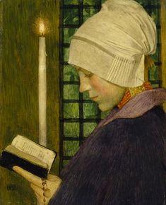 Festa da Candelária, c. 1901 Marianne Stokes (Áustria, 1855-1927) têmpera sobre painel de mogno, 41 x 34 cm Tate Gallery, Londres