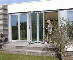 Hedgehog S Bi Fold Doors are made from highly engineered, thermally broken aluminium profiles and can be made up to 3m high x 1.2m wide per panel in configurations of up to 6 panels
