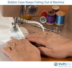 This is a guide about the bobbin case keeps falling out of a sewing machine. You have just cleaned your machine or rewound the bobbin and now the case won't stay inside the machine.