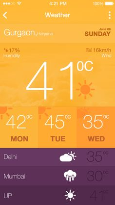 Hot weather app