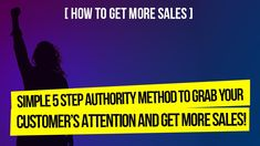 In order to know how to get more sales, to be a success and get the results you are after, it is critical that you learn this 5 Step Authority Method. Step 2 can radically change your business on it's own! Marketing Goals, Content Marketing, Internet Marketing, Social Media Marketing, Online Marketing, Digital Marketing, Business Look, Home Based Business, Online Business