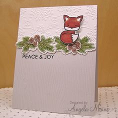 SC559 Peaceful Fox by Arizona Maine - Cards and Paper Crafts at Splitcoaststampers
