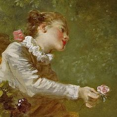 Detail from Jean-Honoré Fragonard's 'The Progress of Love: The Pursuit,' 1771–72, oil on canvas