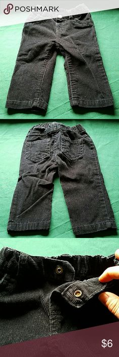 Carter's Boys Black Corduroy Pants 9 month EUC Carter's Boys Black Corduroy Pants 9 month EUC. Only washed with fragrance free detergent.  Check out my other kids clothes for a bundle savings of 20% off of any order of 2 or more items! Carter's Bottoms Jeans