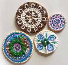 Freehand cookie mandalas by Hoosier Sugar Cookies   Cookie Connection