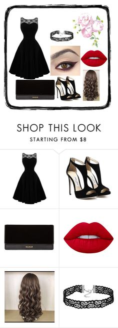 """Untitled #106"" by belu-ataide ❤ liked on Polyvore featuring Balmain and Lime Crime"