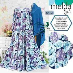 Baju Muslim Motif Bunga Melda Syar'i Terbaru - https://bajumuslimbaru.com/baju-muslim-motif-bunga-melda-syari