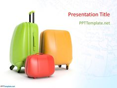 Free Travel Bags PPT Template