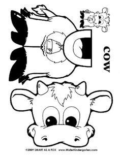 Best Photos of Paper Bag Animal Puppet Templates - Turtle Paper Bag Puppet Printables, Farm Animal Paper Bag Puppets and Farm Animal Paper Bag Puppet Templates Cow Craft, Farm Animal Crafts, Paper Bag Crafts, Paper Bag Puppets, Farm Unit, Marionette, Farm Theme, Preschool Crafts, Preschool Christmas