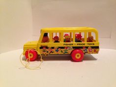 Vintage Fisher Price Little People school bus by VintageRandomness