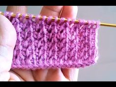 Tunisian Crochet - Business New Model Making 6 (IN TURKISH - If you are familiar with Tunisian Crochet you can watch this video to learn this stitch... The video is good... Deb)